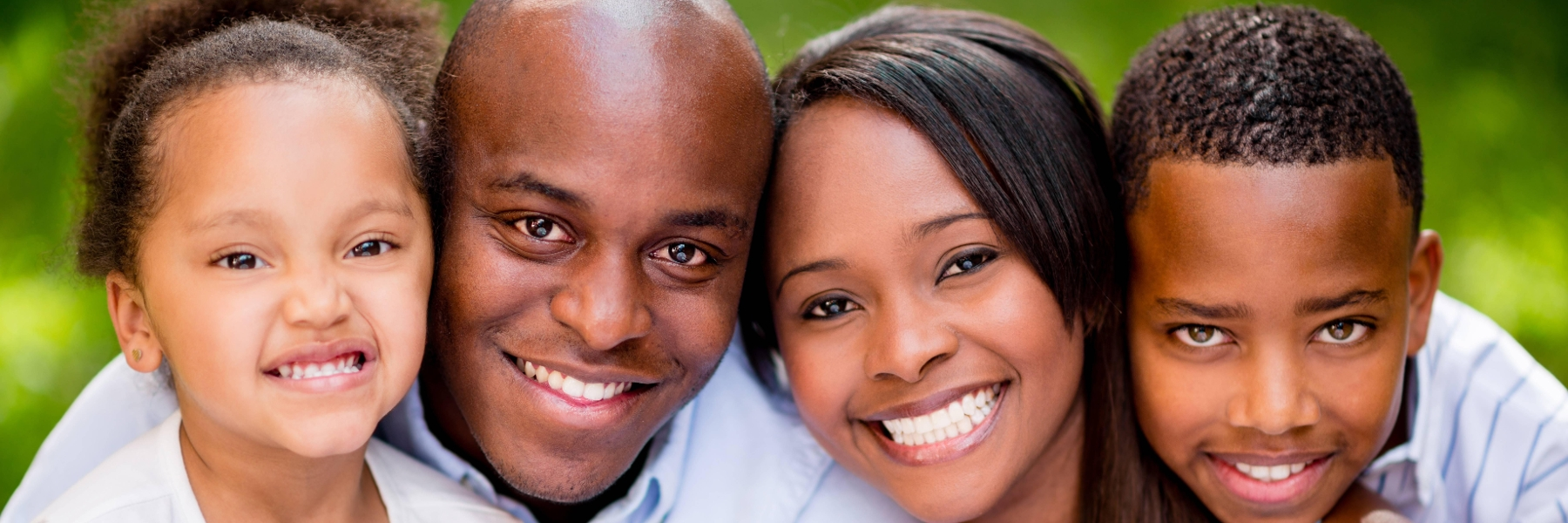 Family Smiling after dentist in Hillsboro OR